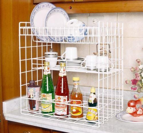 Rak Piring Minimalis sederhana untuk dapur mungil