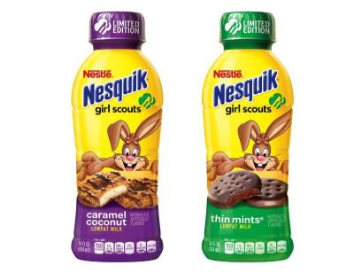 News Nestle New Nesquik Girl Scout Flavors Brand Eating
