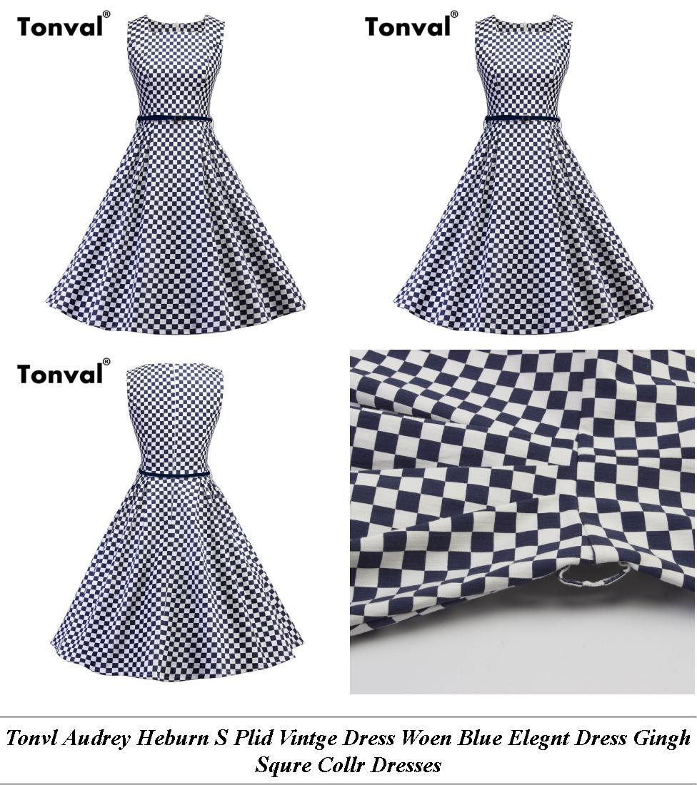 Dress Designs - On Clearance Canada - Midi Length Lack Summer Dress