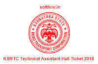 KSRTC Technical Assistant Hall Ticket