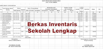 contoh berkas inventaris sekolah