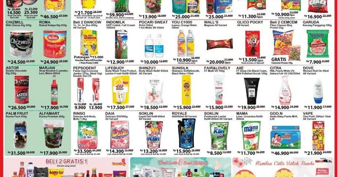 Alfamart Promo Katalog Jsm Periode 18 21 April 2019 Promosi247 Promosi Katalog Dan Diskon Tokopedia Superindo Indomaret Giant Ovo Gopay Dll