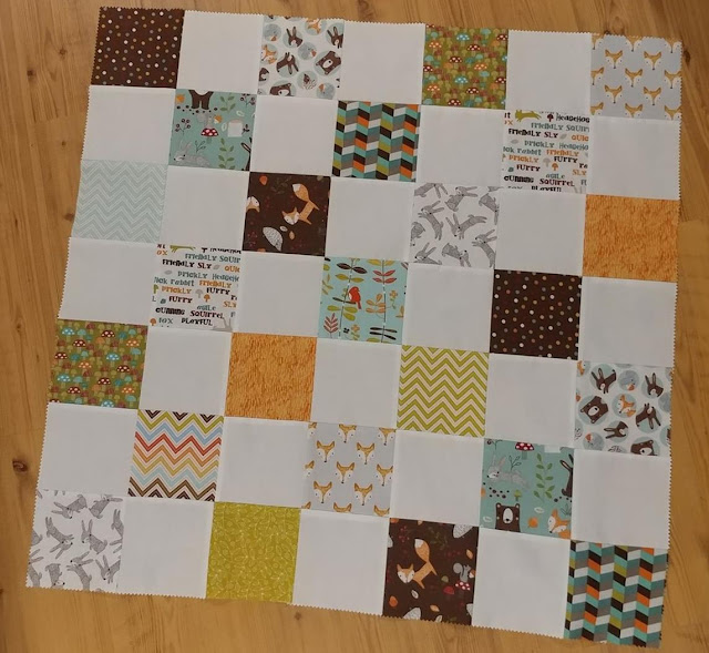 Woodland themed baby quilt