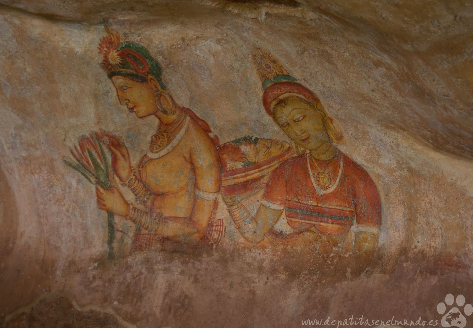 Pinturas de Sigiriya