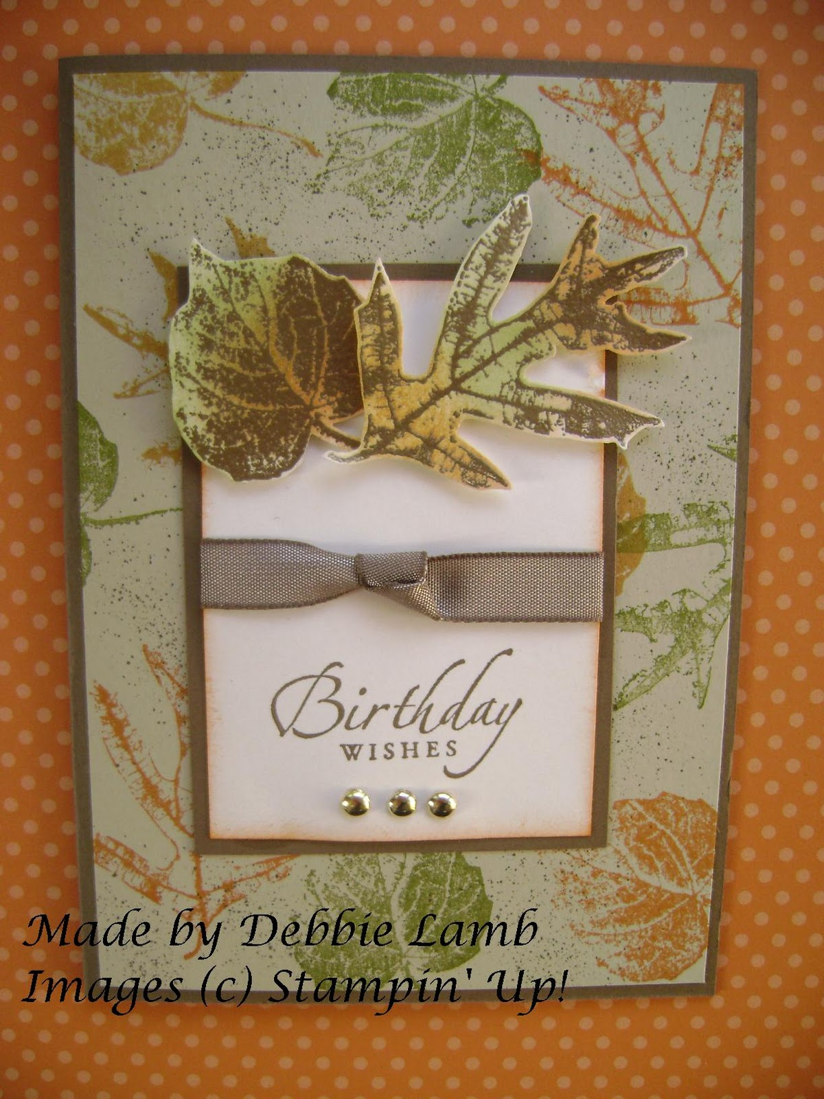 Deb's Stampin' Style: French Foliage