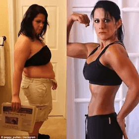 See woman's shocking weight loss photos