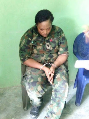 Fake soldier allegedly caught with 3 kids with bombs atached to their bodies at a check point in Abuja