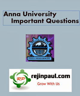 Anna University IT Important Questions 2nd 4th 6th 8th Semester