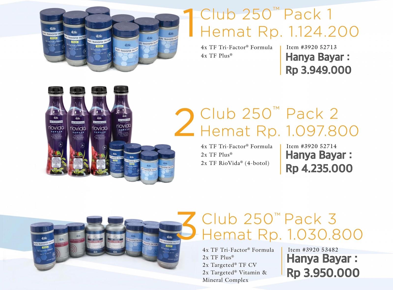 paket club 250