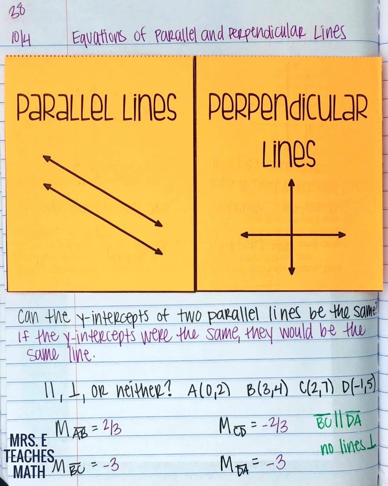 Equations Of Parallel And Perpendicular Lines Calculator