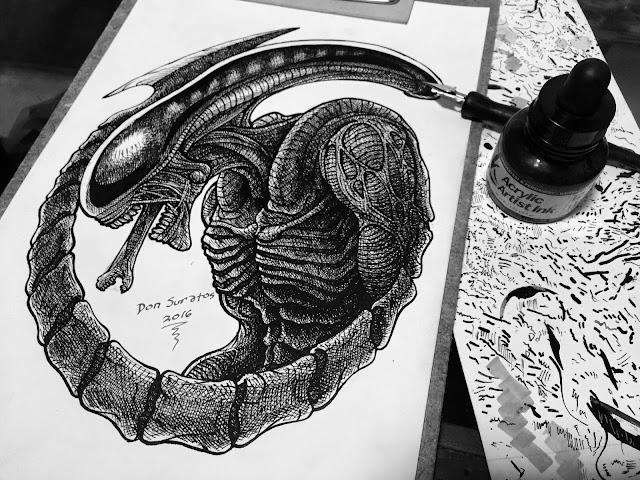 Dip Pen and Indian Ink Art photo