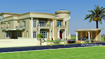 3d Front Beautiful Modern Villa Design 2015