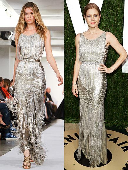 Amy Adams wore Oscar de la Renta dress for Oscars