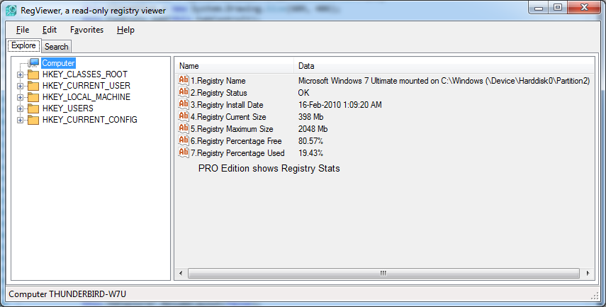Registry Statistics Are Not Real Keys But Contains Summary Of WMI Win32 Class