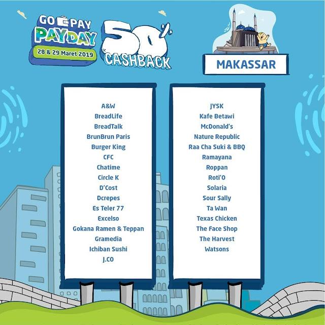 #GOPAY - #Promo GOPAY PAYDAY di 13 Kota Besar Periode 28 - 29 Maret 2019