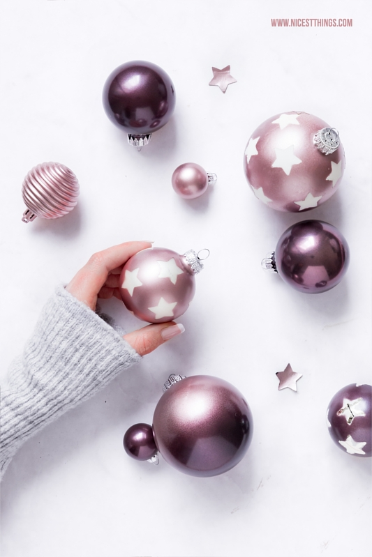DIY Weihnachten: Weihnachtskugeln mit Metallic Sprühfarbe Sterne Ombre