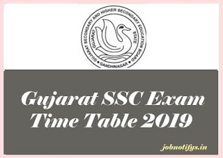 Gujarat Board 10th Exam Time table 2019, GSEB 10th Exam Time table 2019, Gujarat SSC 2019 Time table, Gujarat SSC Board Time table 2019