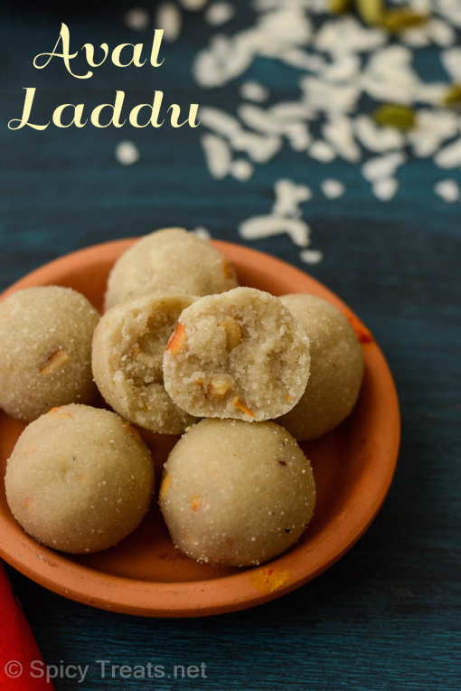 Aval/Poha Laddu Recipe