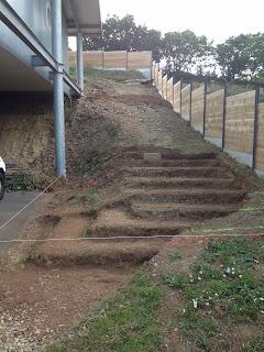 Terrassement escalier Coat Maen