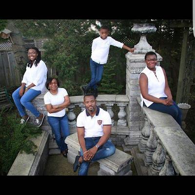 Okey Bakassi family photo