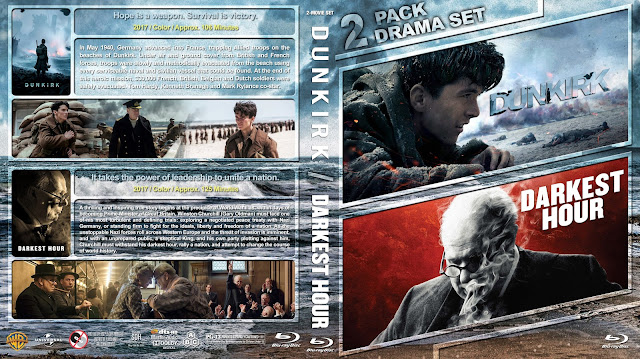 Dunkirk / Darkest Hour Double Feature Bluray Cover