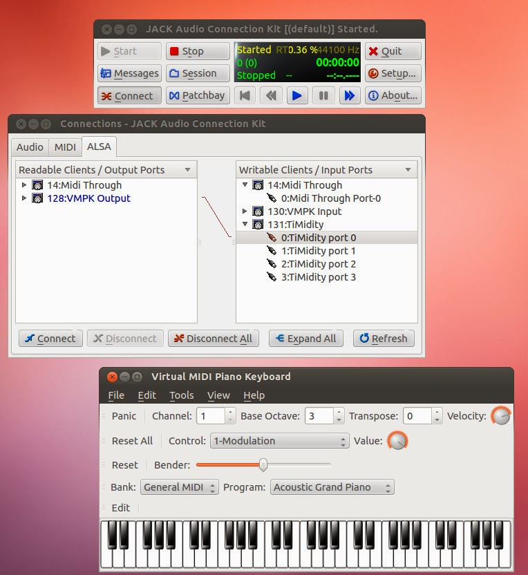 Ubuntu忘備録: Virtual MIDI Piano Keyboardを使う (Ubuntu 12 04)