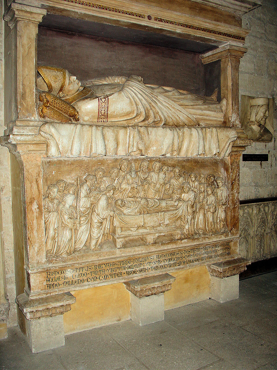 Reproduction of the Tomb of Pope Gregory XI in the Northern Sacristy.