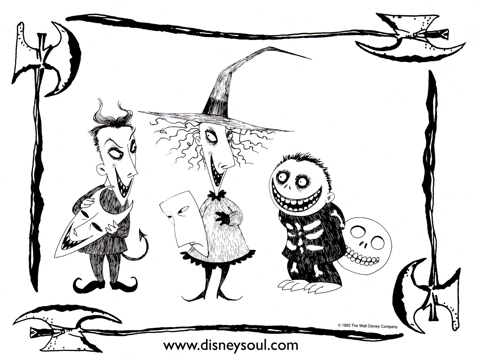 Free Printable Nightmare Before Christmas Coloring Pages - Best ... | 1200x1600