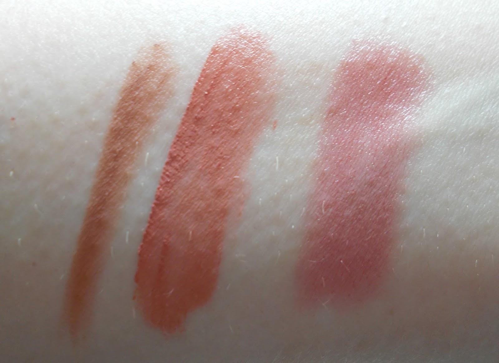 swatches kevyn aucoin flesh tone lip pencil medium nyx soft matte lip stockholm nars satin lip rikugien