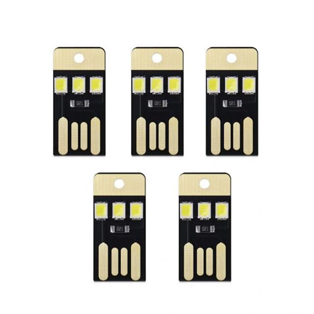 $0.89 (€0.76) Postage for 5Pcs USB LEDLight Smart Touch Control Mini Flashlight
