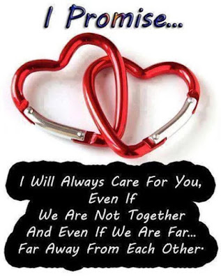 I promise I will always care for you