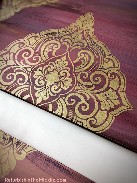 stencil application with Golden Ticket DIY paint