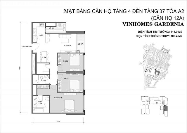 12A - Tòa A2 Vinhomes Gardenia
