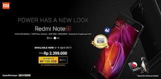 Promo Launching Xiaomi Redmi Note 4