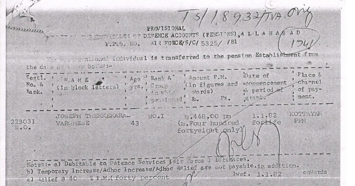 PRE-1986 PPO ISSUED FROM PCDA WITH OUT FAMILY ENDORSEMENT