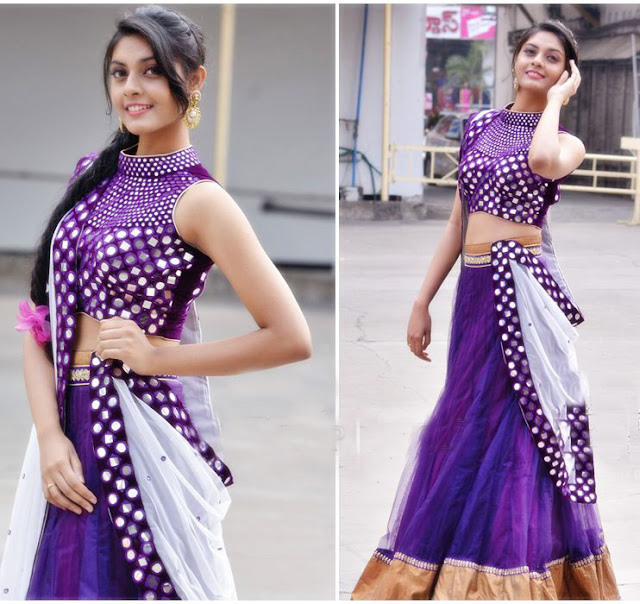 Actress Veena in Latest Designer Lehenga
