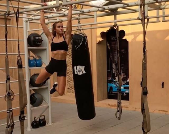 Cara Loren keeping fit through Cross Fit
