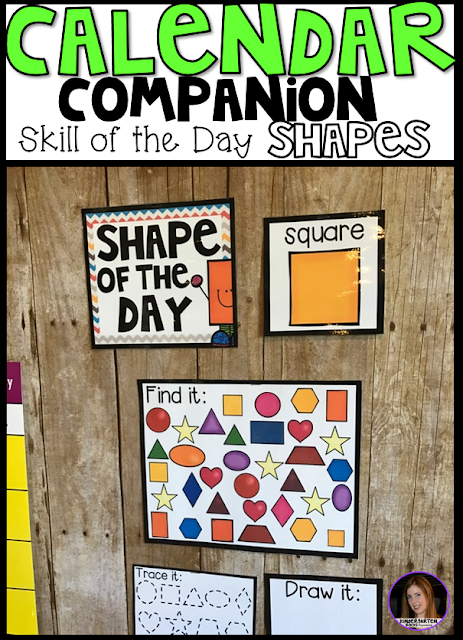 Are you looking for shape activities for preschool and kindergarten? Then you will love Shape of the Day Calendar Companion! Shape of the Day Calendar Companion was designed to be a part of your daily morning meeting or carpet time for preschool and kindergarten leveled children.