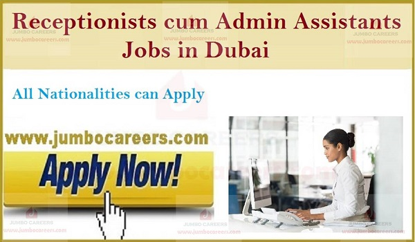 UAE receptionist jobs with salary, Latest gulf job openings,