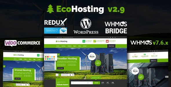 EcoHosting Hosting And WHMCS Responsive Wordpress Themes