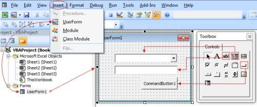 membuat userform di excel