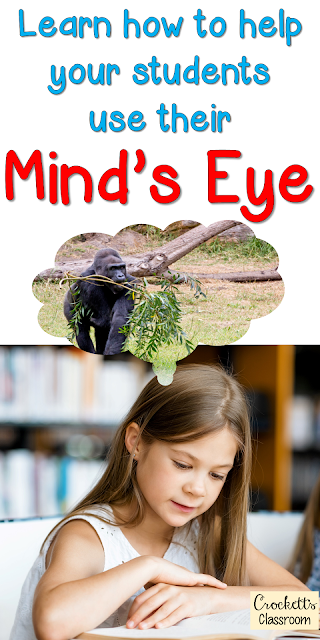 One strategy that is great for teaching students how to form these mental images is called Mind's Eye.  It's so simple to implement and is a terrific way to begin a reading lesson.