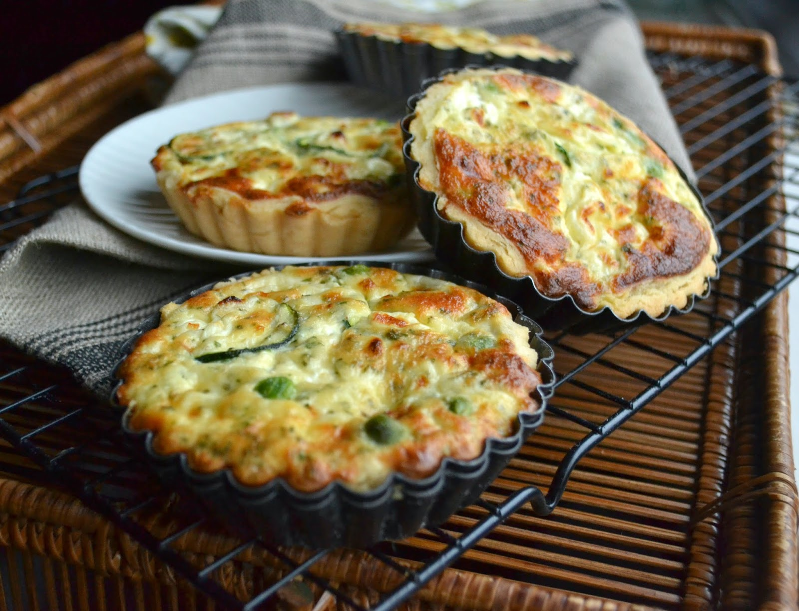 Cottage Cheese And Peas Quiche