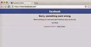 Facebook ngừng hoạt động trong 2 tiếng