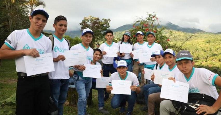 Jóvenes de Programa Beca 18 integran voluntariado que promueve Emapa San Martín y OTASS