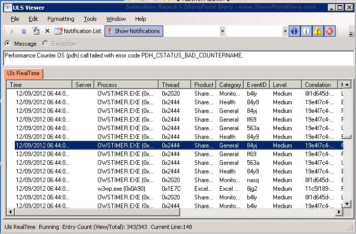 Tools to analyze Diagnostic Logging ULS Logs