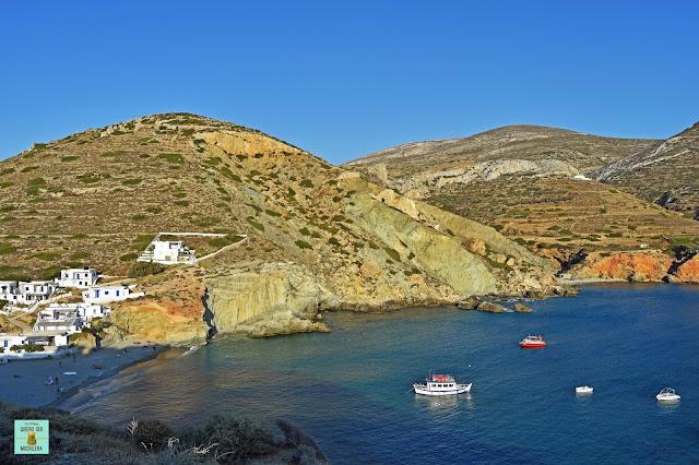 Playa Agali, isla de Folegandros (Grecia)
