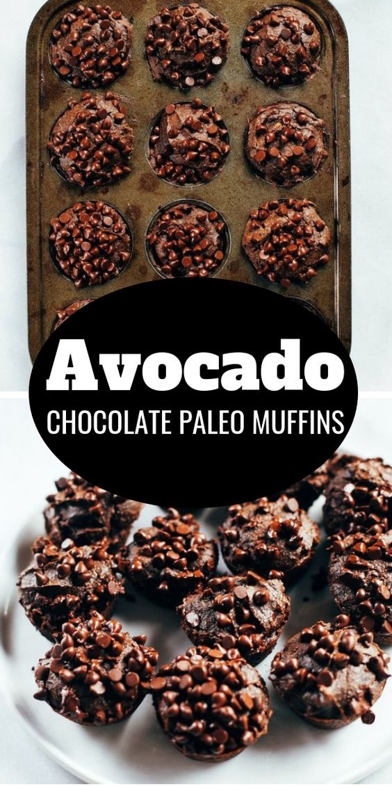 Avocado Chocolate Paleo Muffins