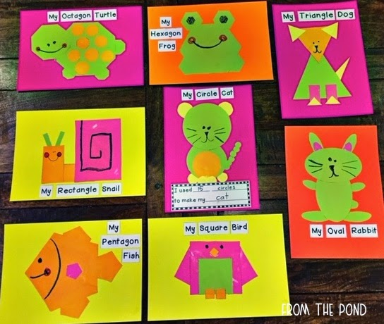 2d shape animal crafts from the pond