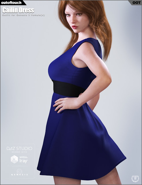 Cailin Dress for Genesis 3 Female